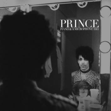 Prince a piano and a microphone